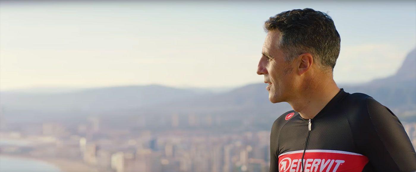 Enervit Sport en bici con Indurain